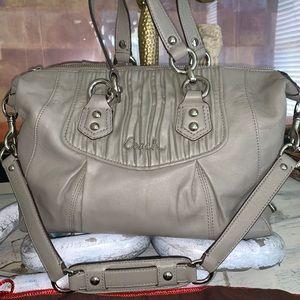 Coach Grey Bag Medium With Dust Cover